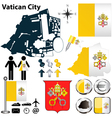 Map of Vatican City vector image vector image