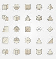 geometry colorful icons vector image
