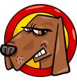 bad dog sign cartoon vector image