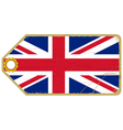 Vintage label with the flag of United Kingdom vector image