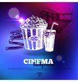 Movie cinema poster vector image