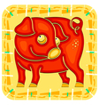 Year of the Pig Chinese horoscope animal sign vector image