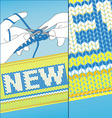 knit new vector image