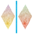 Abstract Ornament of Marijuana Multicolored vector image