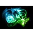 neon cogwheel vector image vector image