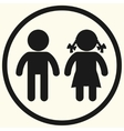 Boy and girl icons vector image