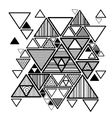 abstract background with hipster triangles vector image