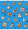 Christmas pattern with Gingerbreads vector image