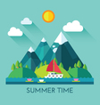 Color summer vector image