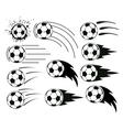 flying balls vector image