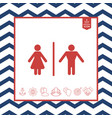 man and woman icon vector image