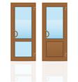 plastic doors 05 vector image