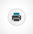 printer icon 2 colored vector image