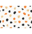 Seamless pattern with ink brush circles vector image