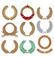 Wreath set - Laurel wreath vector image