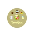 Breakfast food isolated icon set vector image