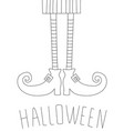 halloween card design with witch legs antistress vector image