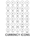 icons currencies in the world vector image
