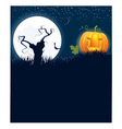 Halloween moon tree vector image