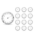 Set of clock icons vector image