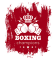 boxing blood vector image vector image