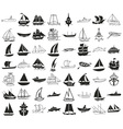 ships icons on white vector image