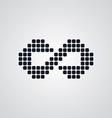 infinity sign logotype vector image