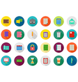 Accounting round icons set vector image