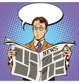 newspaper news surprise reader vector image vector image
