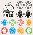 Cruelty free sign icon Not tested symbol Round vector image vector image