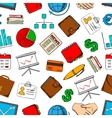 Business and work seamless background vector image