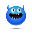 Cartoon funny monster vector image