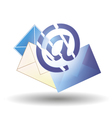 Email blue and envelopes of different colors vector image