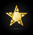 Gold Abstract star on black background vector image