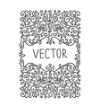 Hand drawn frame monogram design emblem template vector image