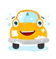 happy cute fun clear car flat vector image