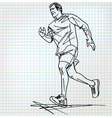 male runner sketch vector image