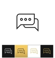 Speak conversation comment or thinking bubbles vector image