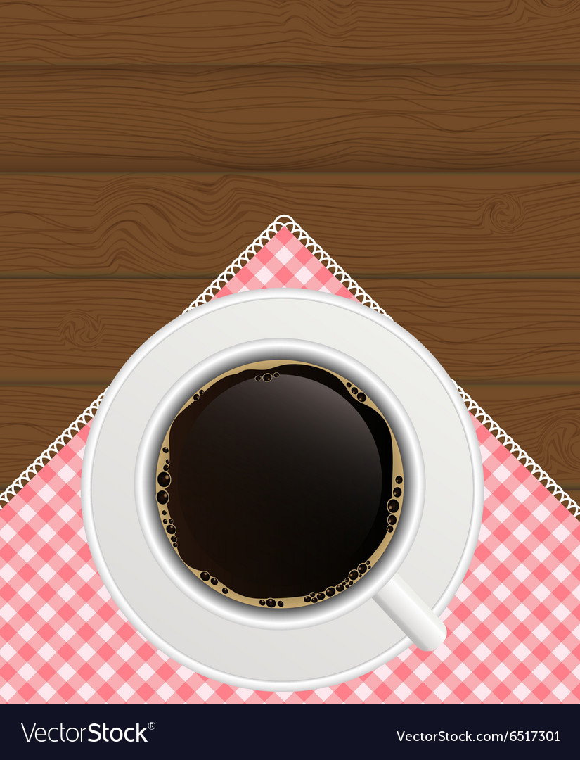 Black coffee background photorealistic vector