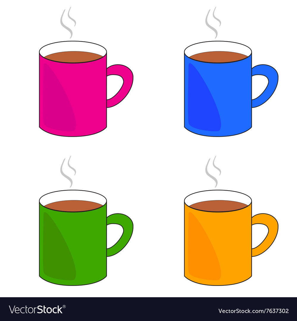 Cup of coffee set vector