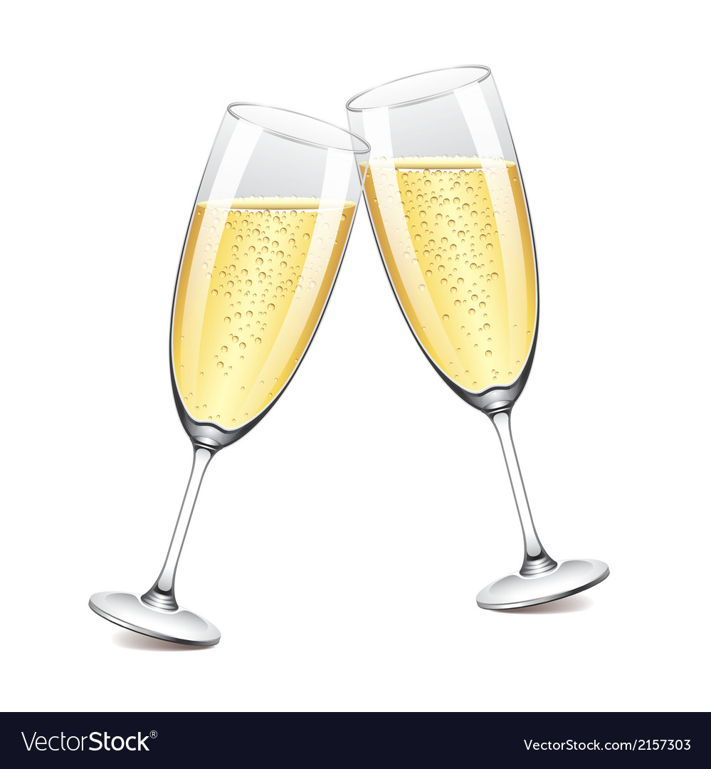 Object champagne glasses vector