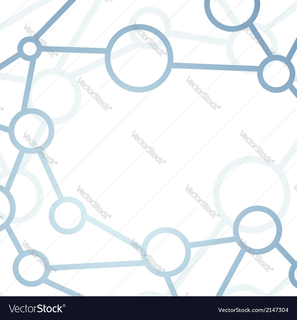 Modern intricacy atom structure network background vector