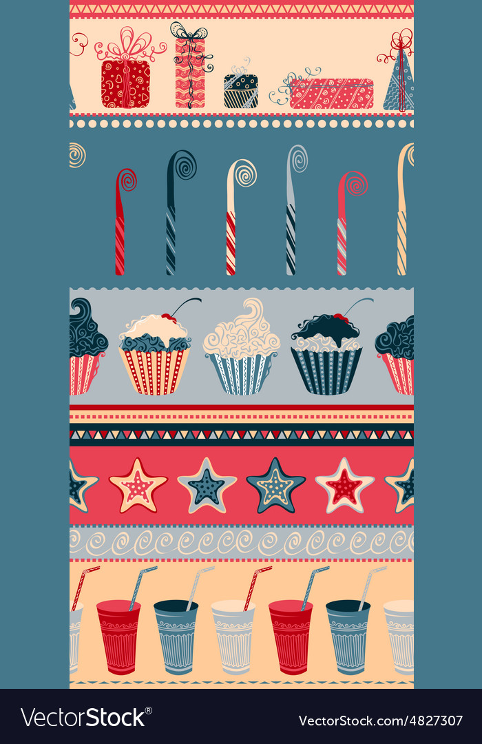 Birthday seamless pattern vector