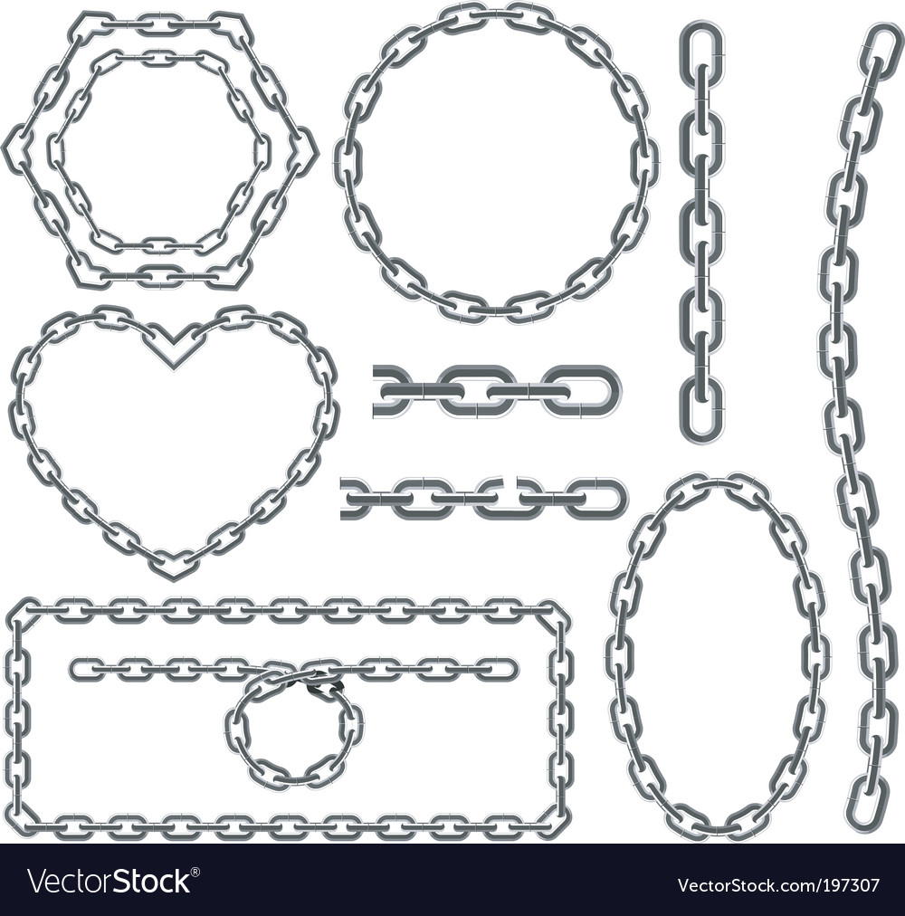 Chain frames vector