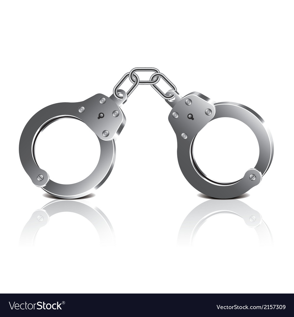 Object handcuffs vector