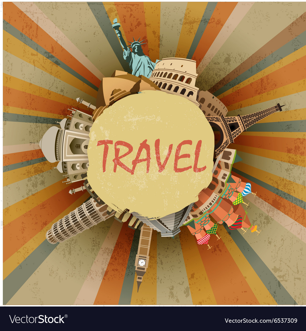 Travel abstract vector