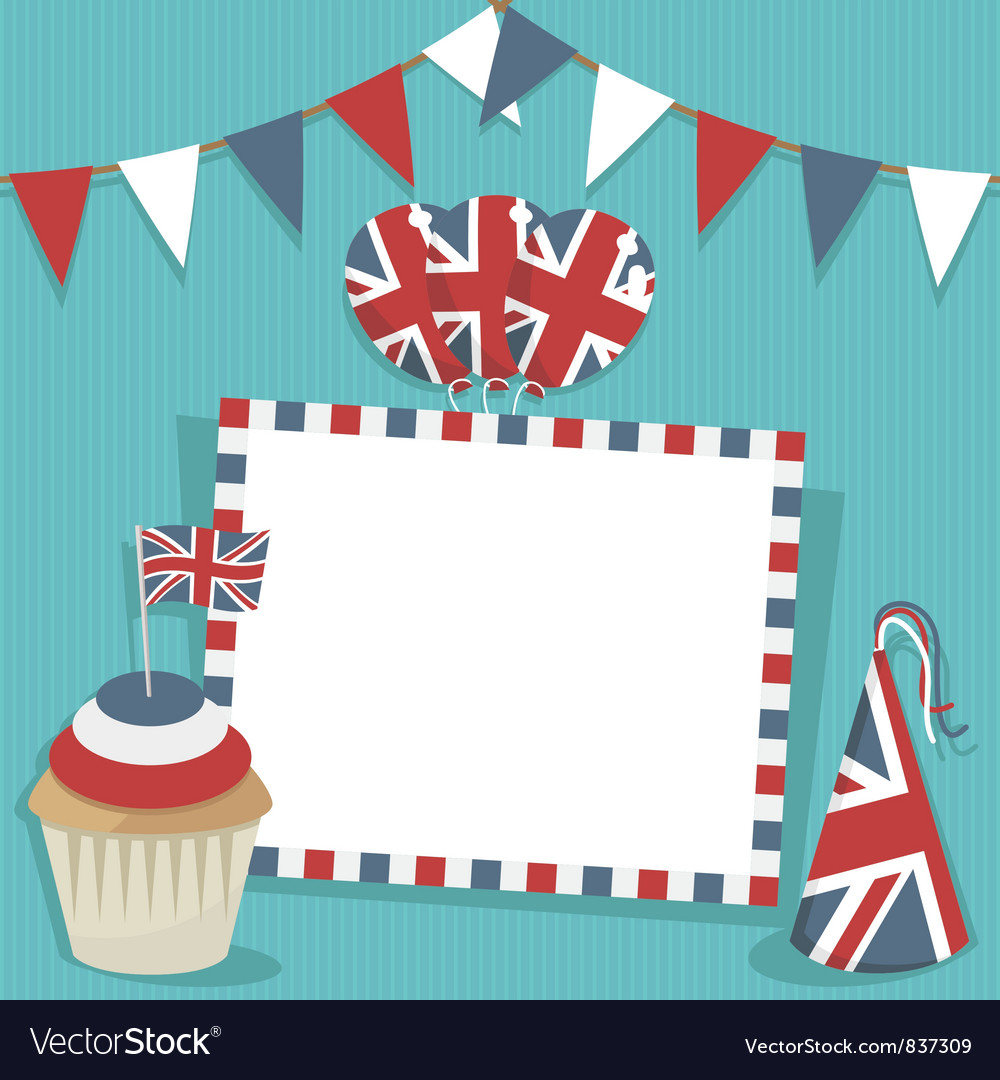 Uk party card vector