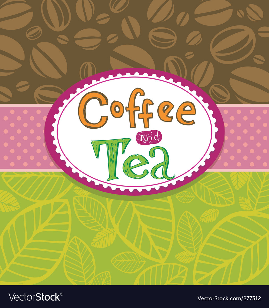 Coffee and tea background vector