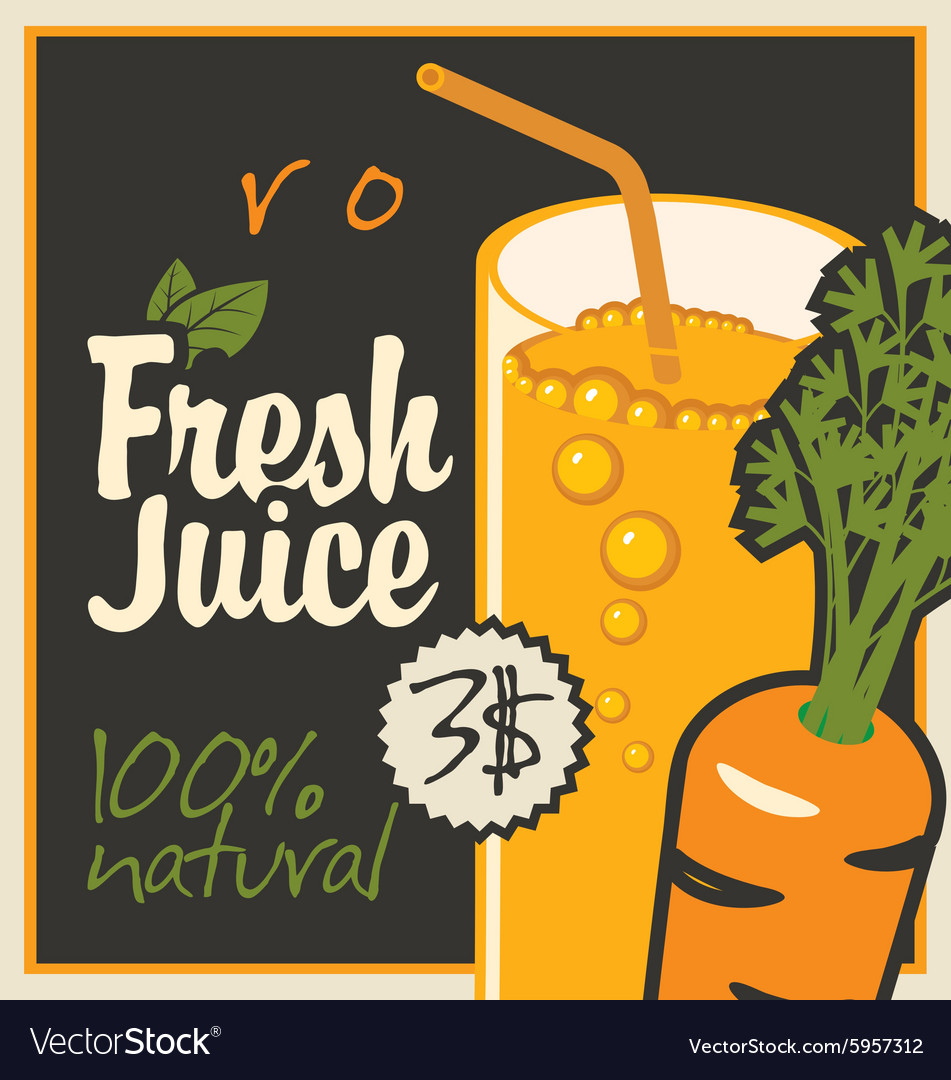 Juice carrot vector