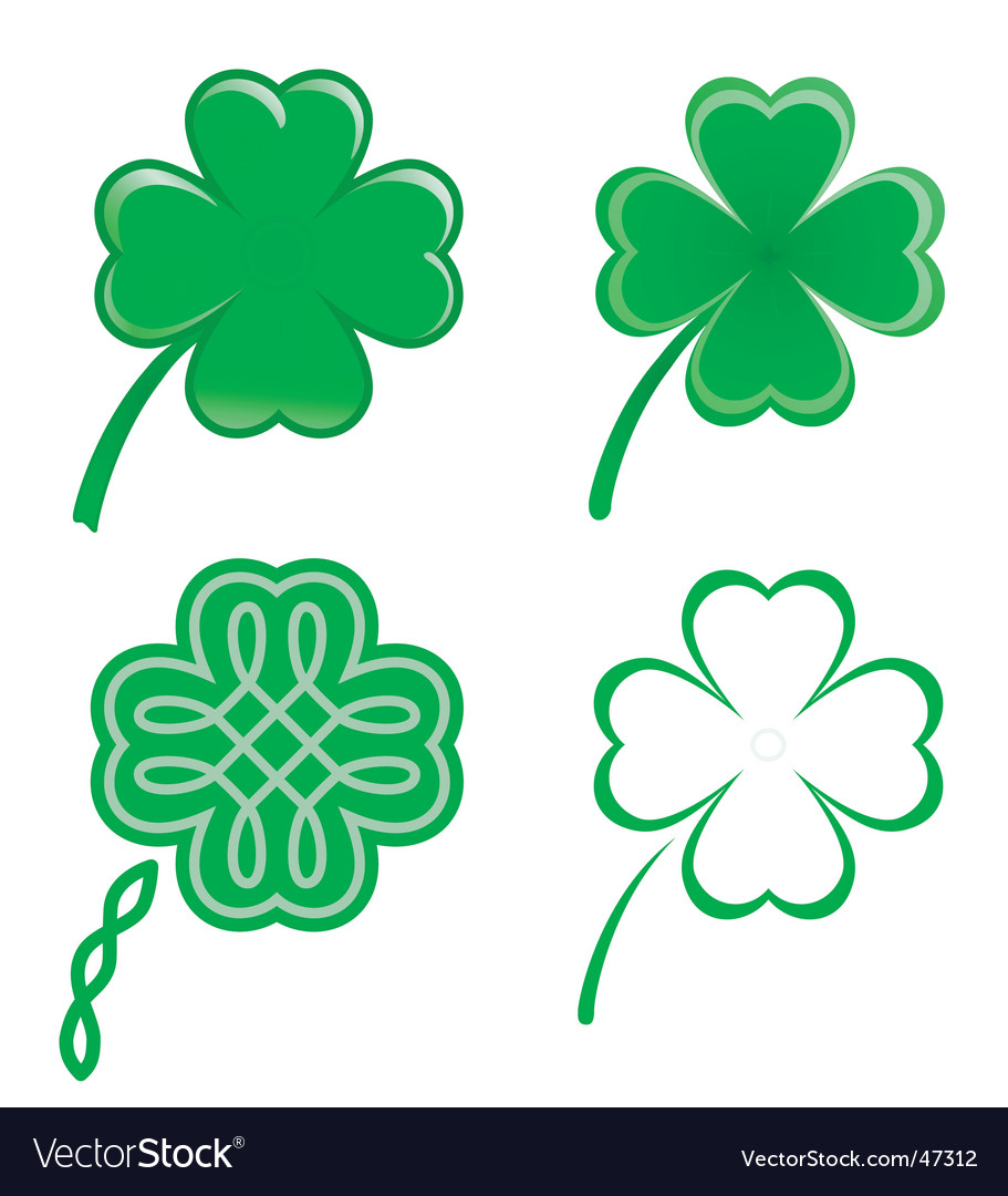 Lucky clovers vector